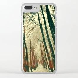 abstract paint art forest Clear iPhone Case