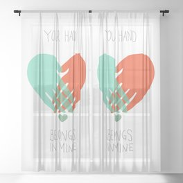 I wanna hold your hand Sheer Curtain