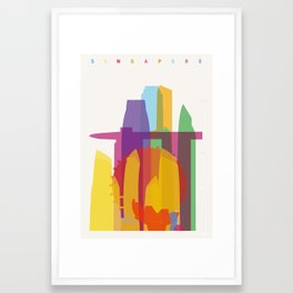 Shapes of Singapore. Framed Art Print