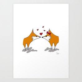 Mr. and Mrs. Fox Art Print