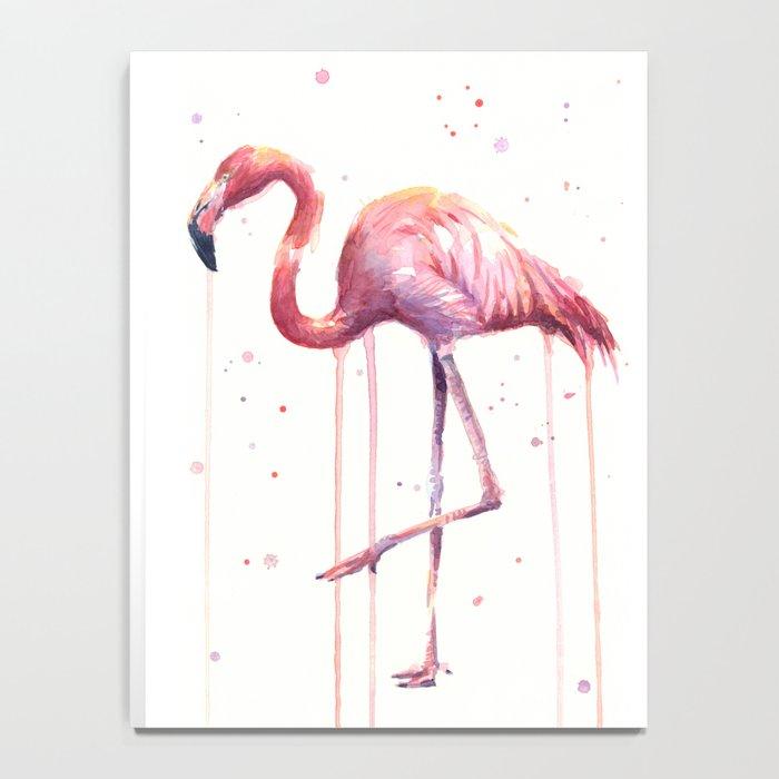 Flamingo Watercolor Tropical Birds Animal Painting Notebook
