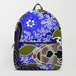 Authentic Aboriginal Art - Sea Turtles Backpack