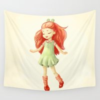 ginger Wall Tapestries featuring Ginger by Freeminds