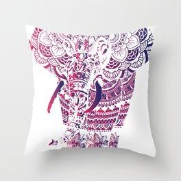 elephant mandala project Ornate Art Style Throw Pillow