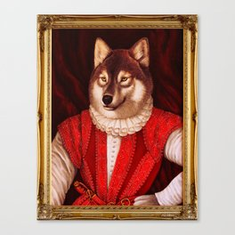 Fur Walter Raleigh Canvas Print