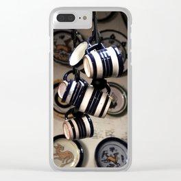 line of ceramic cups Clear iPhone Case