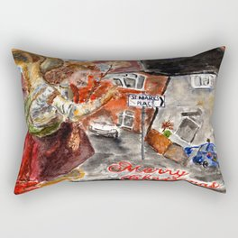 Angel Gabriel Merry Christmas Rectangular Pillow