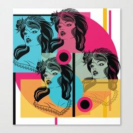 Pop-art is life! Canvas Print