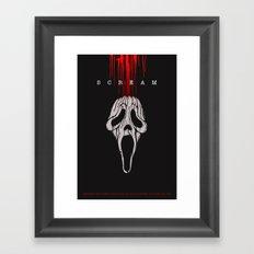 SCREAM (Alternative Movie Poster No. 1) Framed Art Print