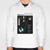 apollo Hoodies featuring Apollo 11 Mission Diagram by Nick Wiinikka