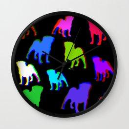 Pug Pattern Wall Clock