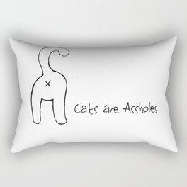 Cats are Assholes Rectangular Pillow