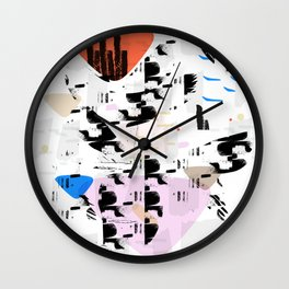 Between the coast and the ocean Wall Clock