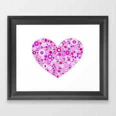 Retro Pink Heart Framed Art Print