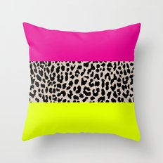 Leopard National Flag X Throw Pillow