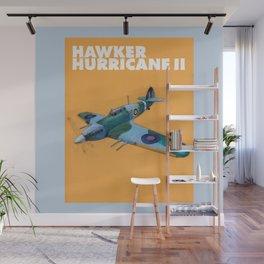 RAF Hawker Hurricane by Dennis Weber of ShreddyStudio Wall Mural