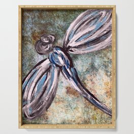 Rustic Dragonfly Art Serving Tray