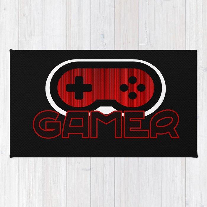 Red Gamer Rug