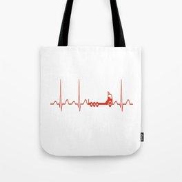 TRUCK HEARTBEAT Tote Bag