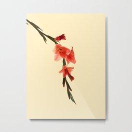 Serena Gladiolus Botanical Metal Print