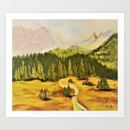 austrian mountains Art Print