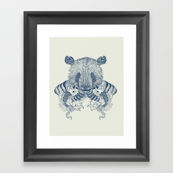 Panda Tattoo Framed Art Print
