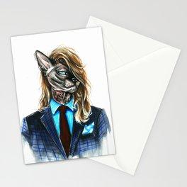 My hipster sphynx Stationery Cards