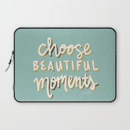 Choose Beautiful Moments – Mint & Gold Palette Laptop Sleeve
