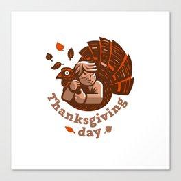 thanksgiving day shirt Canvas Print