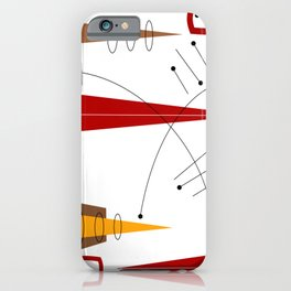 Mid-Century Abstract in Motion iPhone Case