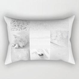 Wyoming White On White Rectangular Pillow