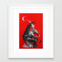 baphomet Framed Art Prints featuring Baphomet by James Bousema