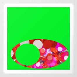 SexyPlexi dots on green  Art Print