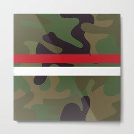 Pattern Army Camouflage Metal Print