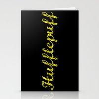 hufflepuff Stationery Cards featuring One word - Hufflepuff by husavendaczek