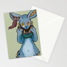 Bunnies have a Bite too Stationery Cards