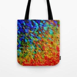 COLLISION COURSE - Bold Rainbow Splash Bricks Urban Jungle Ocean Waves Nature City Acrylic Painting Tote Bag