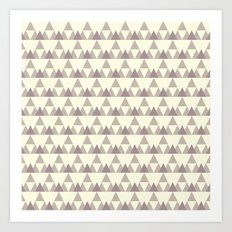 Tiny Triangles Art Print
