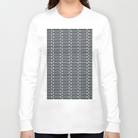 subway Long Sleeve T-shirts featuring Subway Tiles by John D'Amelio