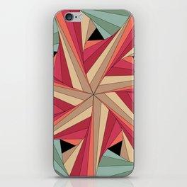 Geometric Mandala / Nothing happens by chance iPhone Skin