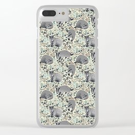 Badger pattern Clear iPhone Case