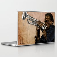 miles davis Laptop & iPad Skins featuring Miles, jazz will never be the same by The Art Warriors