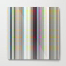 elegant colorful retro striped Nekomusume Metal Print