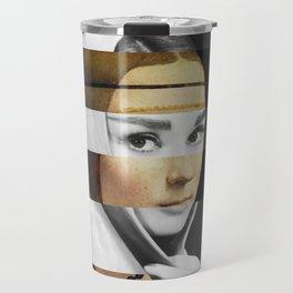 Leonardo da Vinci's Lady with a Ermine & Audrey Hepburn Travel Mug