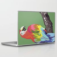 parrot Laptop & iPad Skins featuring PARROT by SAMHAIN