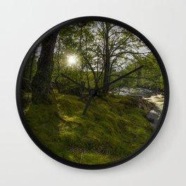 Morning River Sun Wall Clock