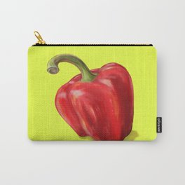 Red Paprika on Yellow Carry-All Pouch
