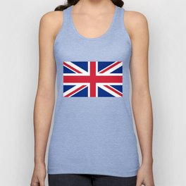 UK Flag, High Quality Authentic 3:5 Scale Unisex Tank Top