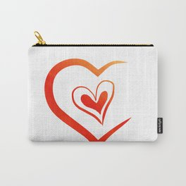 Sunset Hearts Carry-All Pouch