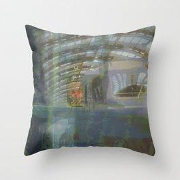 Milan-Train Station2 Throw Pillow